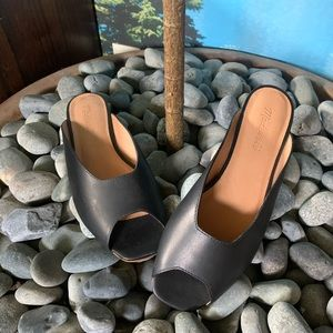 Madewell Erica Peep Toe Mules, Black 8.5